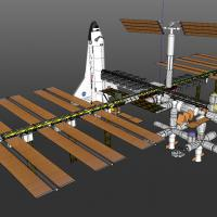 International+Research+Station+with+Space+Shuttle